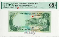 South Vietnam Pick# 34a 100 Dong (1972) Gem Unc /pmg 68 / Top Top/ A1 Seial