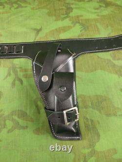 South Vietnamian Local Made Style 1911 Black Leather Cowboy Ceinture & Holster Set
