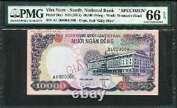 Sud Viet Nam 1975, Specimen 10000 Dong, P36s, Pmg 66 Epq Gem Unc