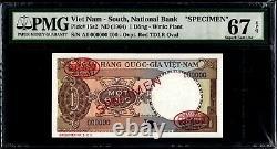 Sud Vietnam 1 Dong 1964 Spécimen P15s2 Pmg67