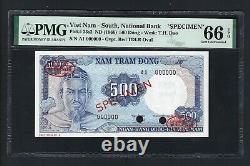 Sud Vietnam 500 Dong Nd(1966) P23s2 Specimen Tdlr Non Circulé Grade 66