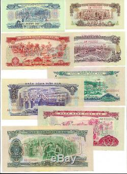 Sud Vietnam 8-pc Echantillon 10 Xu-dong 50 1966 Unc P 37 38 39 40 41 42 43 44
