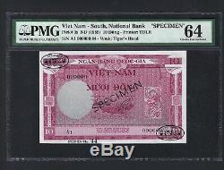 Sud-vietnam 10 Dong Nd 1955 Spécimen Tdlr Ongecirculeerd 3p