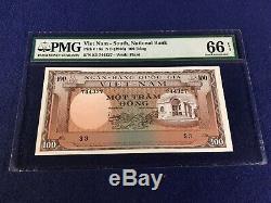 Sud-vietnam 100 Dong 1966 18 Gem Unc Ramasser Pmg66 Très Rare