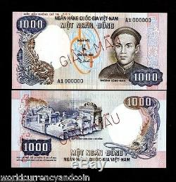 Sud-vietnam 1000 Dong 1000 P34 1975 Unc Rare Specimen Money Bank Asia Remarque