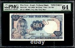 Sud-vietnam 500 Dong 1966 P-23s1 Spécimen Pmg64