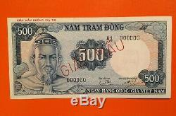 Sud-vietnam 500 Dong 1966 P-23s1 Spécimen Unc