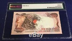 Sud-vietnam 5000 Dong 1975 Unc 35a Choix Pmg 63 Unissue Rare