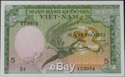 Sud-vietnam, Banque Nationale 5 Dong 1955 Pioche 2a Head Superb Tiger! Réduit