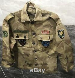 Sud-vietnam Csdc Police Champ 604 Shirt Araignée Bd5 Correctifs Jumeaux