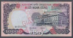 Sud-vietnam Dong 10000 Échantillons Billet P36s Nd 1975 Choix Unc