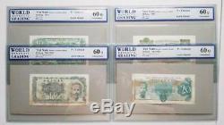 Sud-vietnam Set 1953 10 20 50 100 200 500 Dong Très Rare