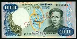 Sud-vietnam Spécimen 1.000 Dong Nd (1975) Unc Pick-# 34que
