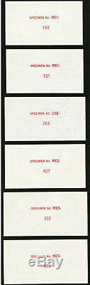 Sud-vietnam Spécimen 1 2 5 Dong (1955) P. 11s 12s 13s Avant Et Arrière 6 Note