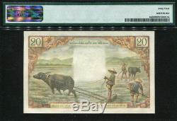 Viet Nam Du Sud 1956, 20 Dong, N3-20240, P4a, Pmg 64 D'origine Unc