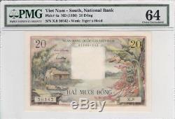 Viet Nam Du Sud 1956 20 Dong P-4a Pmg Choix Unc 64