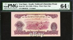 Viet Nam Du Sud 1963, 5 Dong, R6, Pmg 64 Epq Unc