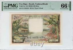 Viet Nam Du Sud 20 Dong 1956 P-4a Pmg Gem Unc 66 Epq