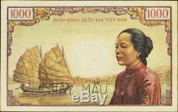 Viet Nam Du Sud Pick-# 1000 4comme Dong 1955 Vieillard Temple Pmg 64 Spécimen Rare