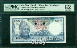 Viet Nam South Color Trial Specimen Nd 1966 200 Ông Pick 20 Cts2 Pmg 62