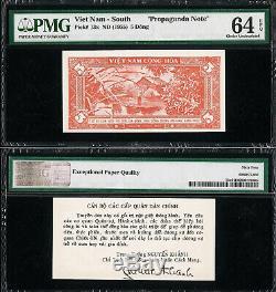 Vietnam 5 South Dong Propagande Note Nd (1955) Pick-13x Ch Unc Pmg 64 Epq