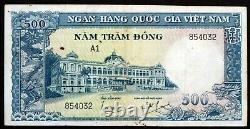 Vietnam Du Sud 1962 Rare 500 Dong Banknote P-6a Banque Nationale Du Viet Nam