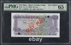 Vietnam Du Sud 50 Dong 1966 P-17s Spécimen Pmg65