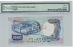 Vietnam Du Sud Specimen 1000 Dong 1975 Pick # 34que Pmg-66 Epq (# 688)