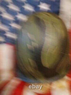 Vietnam Guerre Sud Vietnam Marine Corps 3ème Bn Camouflage En Acier Pot Casque