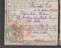 Vietnam Sud $ 180,00 Timbres De Revenu Sur Le Document (dl) 1956