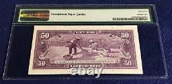 Vietnam Sud 50 Dong 1956 Pick 7a Pmg 65 Première Impression De Lot 1-a Série