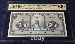 Vietnam Sud 500 Dong 1955 Pick 10s2 Specimen Printed Pmg 66