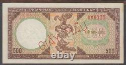 Vietnam Sud 500 Dong Specimen Billet De Banque P-22s Nd 1964 Giay Mau