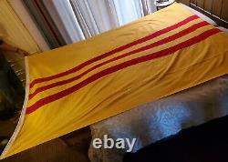 Vintage South Vietnam Flag 6'x9' Brought Back (never Flown)