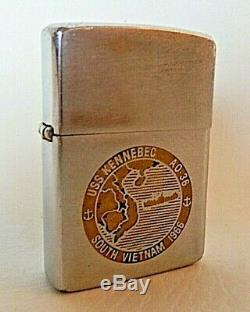 Vintage Vietnam Zippo, Us Navy, Uss Kennebec Ao-36, Sud-vietnam 1966