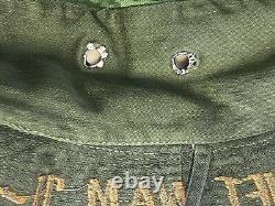 Vtg Vietnam War Arvn Erdl Camo Field Hat South Advisor Bush Rare Original Années 1970